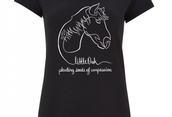 Fitted Tshirt Black - HORSE