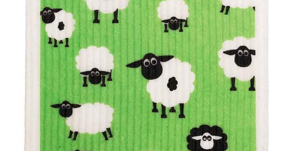 Retro Kitchen Biodegradable Dish Cloth Sheep