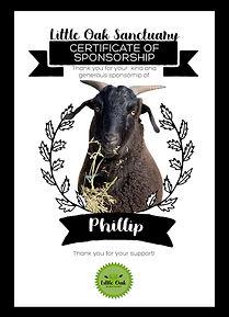 SponsorshipCertificate_PhilliptheGoat co