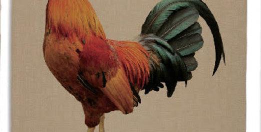 Teatowel - Rooster - Natural