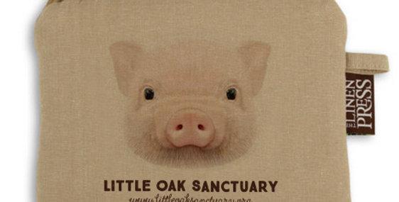 Organic Cotton Purse - Pig