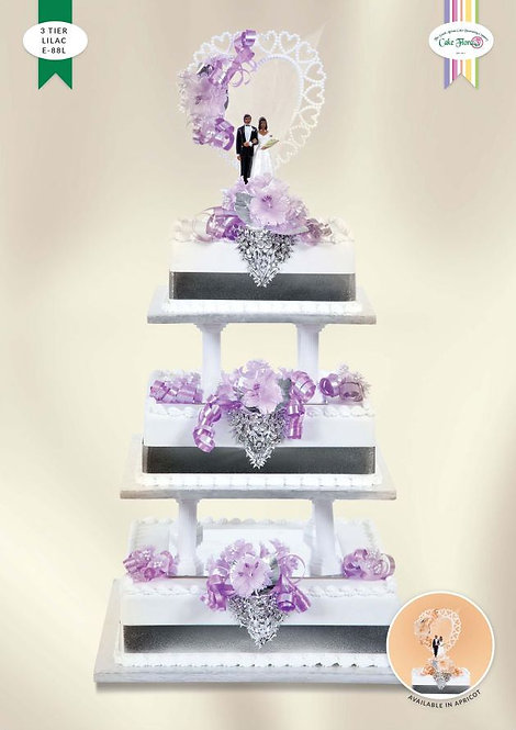 KIT E88 - 3 TIER APRICOT OR LILAC
