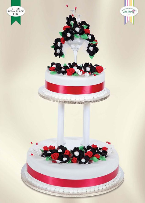 KIT E86 - 3 TIER RED & BLACK