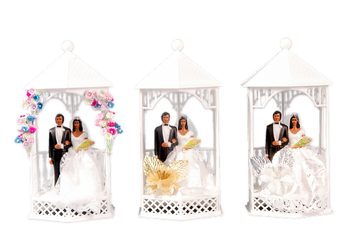 READY TO USE CAKE TOPPERS - GAZEBO TOPS
