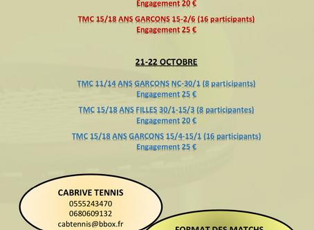 TMC Toussaint les 19-20 et 21-22 octobre 2020