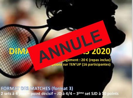 TMC SOTHYS Dames NC à 30/1 le dimanche 15 mars 2020