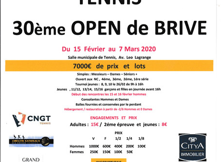 Open de Brive du 15 février au 7 mars 2020