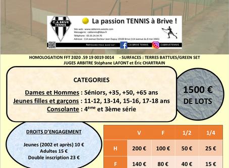 Tournoi Open du 13 au 25 juillet 2020