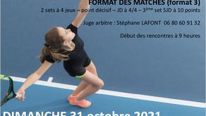TMC Sothys dames NC-30/1 et 30-15/1 dimanche 31 octobre