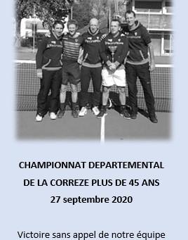 Résultat championnat de la Corrèze +45 ans