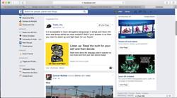 Facebook mock up