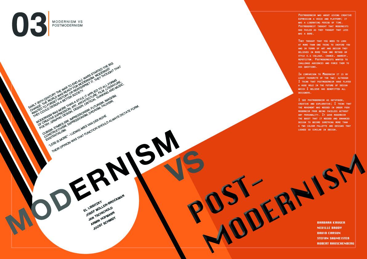 Modernism Vs Post-modernism