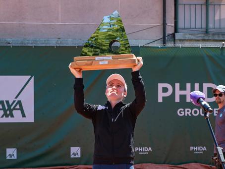 zidansek (slo) wins 1st title at lausanne