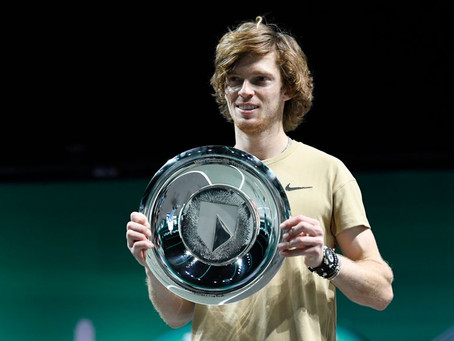 RUBLEV (RUS) WINS 8TH TITLE IN ROTTERDAM