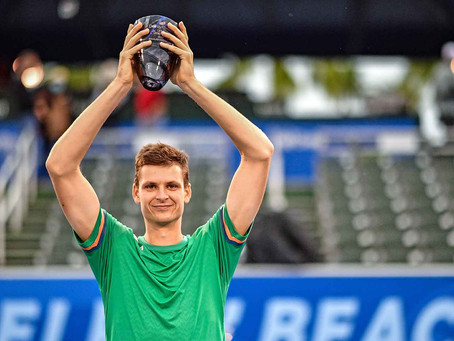 HURKACZ (POL) WINS 2ND TITLE IN DELRAY BEACH