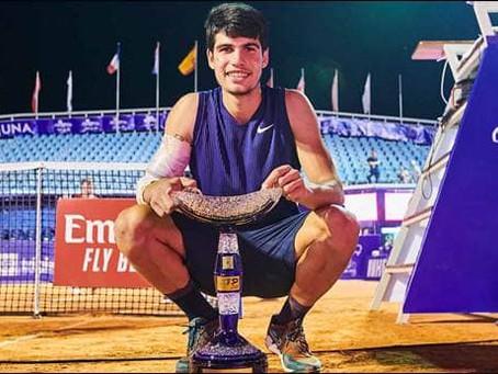 ALCARAZ (ESP) WINS 1ST TITLE AT UMAG