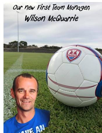 Wilson McQuarrie appointed new First Team Manger