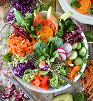 Healthy nutritious salad full of vegetables and leafy greens