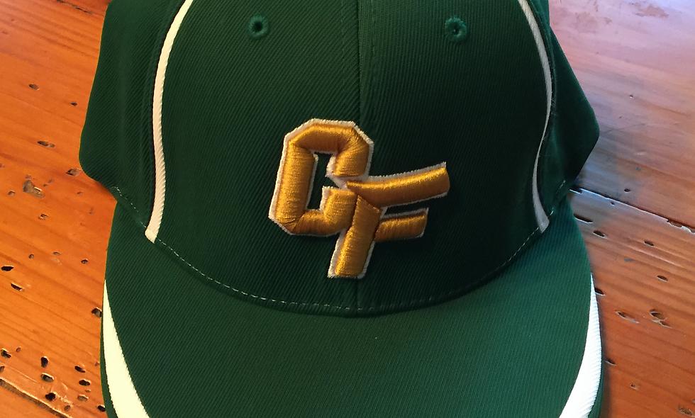 Green and White Baseball Cap