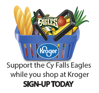 Support the Cy Falls Eagles while you shop! Sign up for Kroger Community Rewards and select Cy Falls