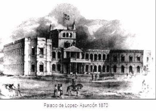 Paraguay Asunción 1870 Palacio Lopez
