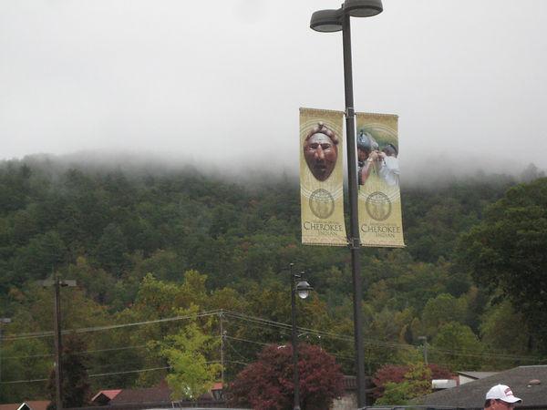 Las Smoky Mountains cubiertas de niebla.