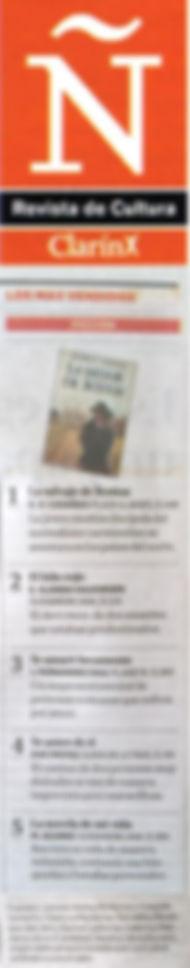 """Gracias a los lectores 2da. semana entre los BESTSELLER de Revista Ñ Clarín """"LA SALVAJE DE BOSTON"""""""