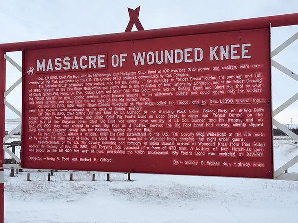 recordatorio actual de la masacre de Wounded Knee