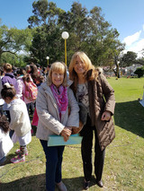 con Graciela, maestra normal, directora de escuelas, y poetisa