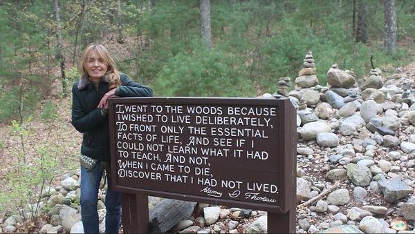 el lugar exacto donde estuvo la cabaña en la que Thoreau vivió aislado de la sociedad