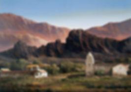 paisaje serrano de Jorge Fasca, Gloria V. Casañas, novela Luna Quebrada