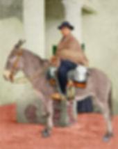 El cura Brochero en su mulo a caballo en la novela de Gloria V. Casañas Luna Quebrada