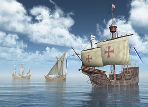 A punto estuvo Colón de caer por la borda