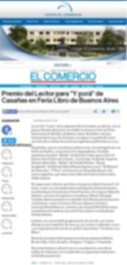 Pimer Premio de los Lectores -FERIA DEL LIBRO BUENOS AIRES 2012