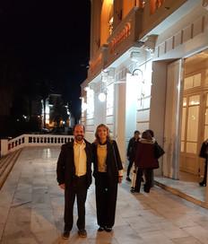 Con Diego Cheín, Director de Letras, en el Teatro San Martín