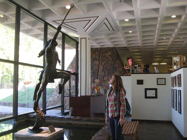 Museo de la Reserva de Tahlequah, Oklahoma, de donde traje los libros que buscaba.- Cherokee