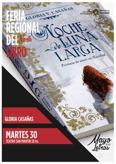 Afiche de presentación de la novela NOCHE DE LUNA LARGA