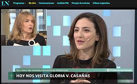 LA NACION+ plus video CAROLINA AMOROSO perodista del Grupo Clarín - televisión noticero TN todo noticias