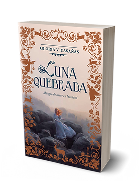 Tapa de la nueva novela de navidad GLORIA V CASAÑAS Luna quebrada