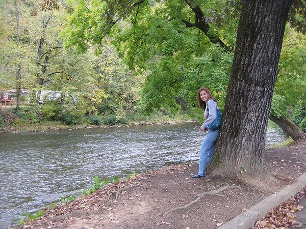 Historia del los Cherokee-trail o teers- En el río Oconaluftee, donde transcurre parte de la novela