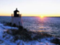 FARO EN NEWPORT Sunset-at-Castle-Hill-Lighthouse-Newport-Rhode-Island