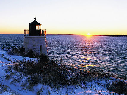 FARO EN NEWPORT Sunset-at-Castle-Hill-Lighthouse-Newport-Rhode-Island