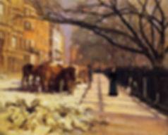 Beacon St., ciudad de Boston, cuadro de Theodore Robinson
