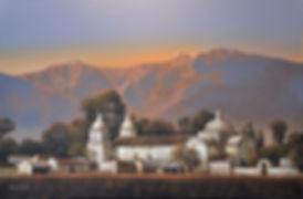 """paisaje de las sierras de Córdoba argentina, turismo médico, obra de Jorge Frasca, Gloria V. Casañas novela """"Luna Quebrada"""""""