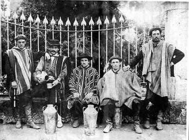 lecheros y tamberos en la reja de la Quinta Lezica-Ciudad de Buenos Aires-siglo XIX