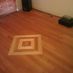 Direct stick patterned floor