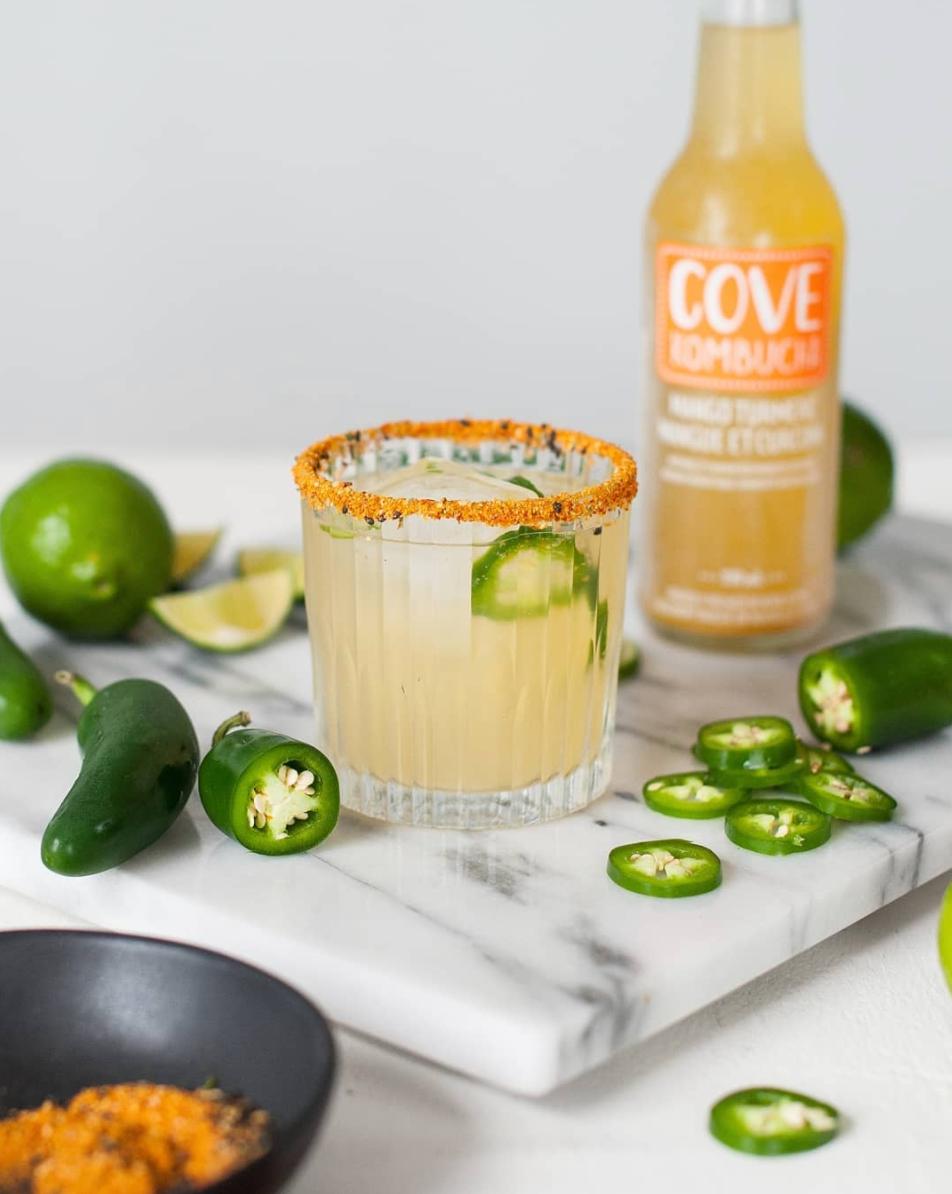 Mango Turmeric Jalapeño Cocktail
