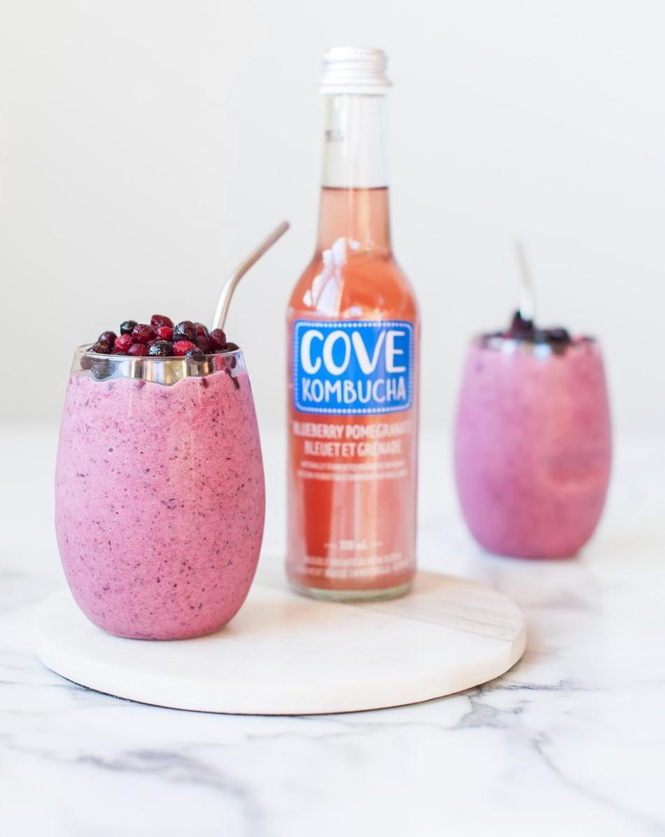 Blueberry Pomegranate Probiotic Smoothie