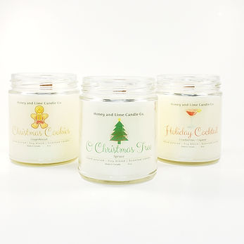 Honey and Lime Candle Co. Holiday Candle