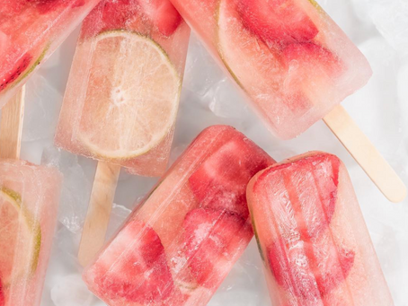 STRAWBERRY LIMEADE ICE POPS